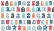 Patchworkstoff, Marina Beach Huts, 1770, makower uk