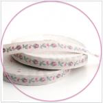 Webband Rosenknospe antik-pink acufactum 1 cm breit