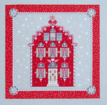 Stickpackung, Rotes Weihnachtshaus, 2598, acufactum