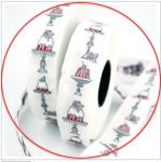 Webband Törtchen, Torte weiß-rot acufactum 2 cm breit