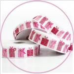 Webband Weihnachtspäckchen rosa-pink acufactum 2 cm breit