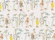 Baumwollstoff, Patchworkstoff, Elfen im Wintergras, acufactum, Daniela Drescher