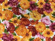 Patchworkstoff, Cottage Flowers Robert Kaufman, Blumen in sonnigen Farbtönen