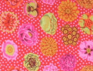 Red Big Blooms, Kaffe Fassett