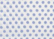 Kaffe Fassett Classics, Spot, hellblaue Punkte auf weißem Hintergrund