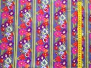 Patchworkstoff, Free Spirit,Blumen lila bunt, Bordüre Secret Garden Window Box Denim, by Nel Whatmore