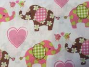 Patchworkstoff, Kinderstoff mit niedlichen Elefanten
