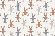 Jersey, High Quality Print Fabric, Häschen, Bunny Love