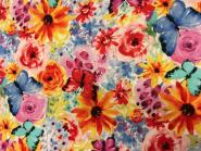 Patchworkstoff, Garden Party Collection, Aquarell Blumen, Watercolor, michael miller