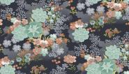 "Patchworkstoff ""ASAMI large flower grey"" 1558/S"