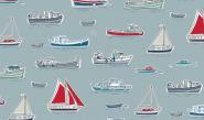 Patchworkstoff, Marina Boats, 1768, makower uk