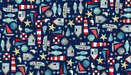 Patchworkstoff, Sea Breeze, Icon Montage, 2081 , maritime Motive, makower uk