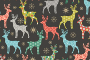 Patchworkstoff, Merry Reindeer, 2111, makower, Rentier
