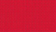 """Patchworkstoff, weiße Punkte/Pünktchen auf rotem Hintergrund. """"Spot"""", 830,R, makower"""
