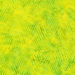 Island Batik, Batik gelb mit grün-türkisen Punkten, gepunktet