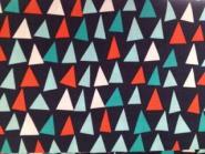 """Patchworkstoff,Dreiecke oder Segel, """"Point of Sail"""", Michael Miller, blau, türkis, rot, weiß"""