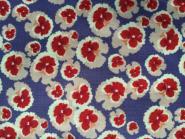 Blumen (Stiefmütterchen) lila rot creme, Secret Garden Flower Power Denim von Free Spirit by Nel Whatmore