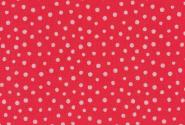 Westfalenstoff, Junge Linie rot mit rosa Punkten, 0010508054, Punkte