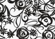 Westfalenstoff, 010601011 - Fantasia, schwarz und weiß
