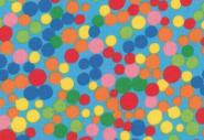 Westfalenstoff, Junge Linie blau mit bunten Punkten / Tupfen, 0010508225, Punkte