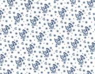 Westfalenstoff Klassiker Sterntaler weiß blau 001050361