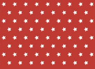 Westfalenstoffe, weiße Sterne auf rot, 010506233 - Capri