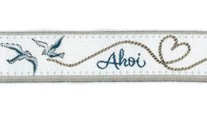 """Webband, """"Ahoi"""" acufactum 1,6 cm breit"""