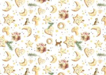 Patchworkstoff, Weihnachtsbäckerei, acufactum, Daniela Drescher