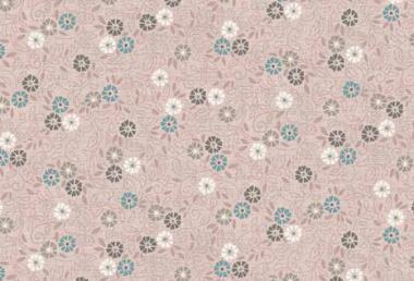 Patchworkstoff, Serenity Flower Scroli, altrosa, 1694 , Makower uk