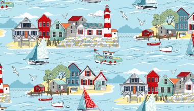 Patchworkstoff, Sea Breeze, Scenic, 2079, maritime Szene