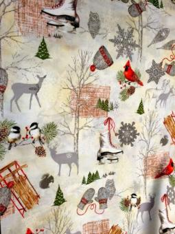 "Patchworkstoff ""Winter Celebration"" by Sandy Lynam Clough"