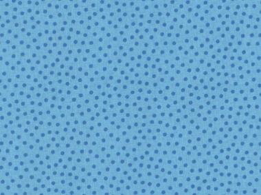 Westfalenstoff, Junge Linie blau mit blauen Punkten, 0010508041, Punkte