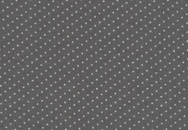 Westfalenstoffe, weiße Punkte auf grau, 010506250 - Bergen