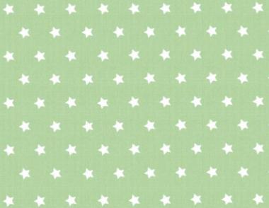 Westfalenstoffe, weiße Sterne auf grün, 010506232 - Capri