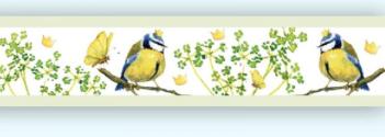Webband, Meisenprinz, acufactum,Vögel, 1,6 cm breit