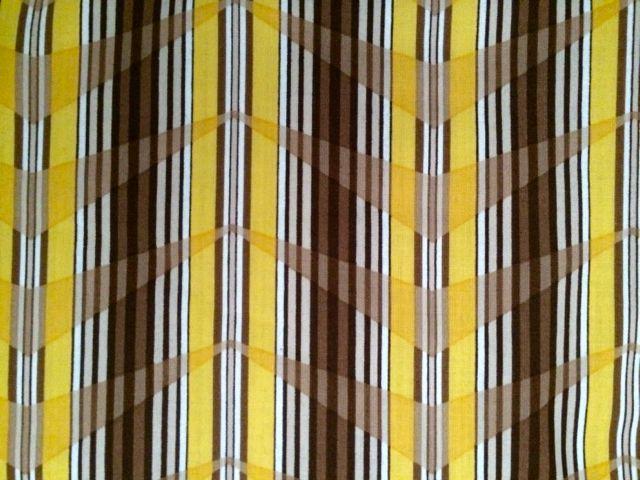 """Gelbe, taupe, weiße und braune Streifen """"Bold Moves"""", Marcus Fabrics"""