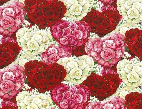 """Bed of Roses"", Herbie Licensed for Wilmington Prints"