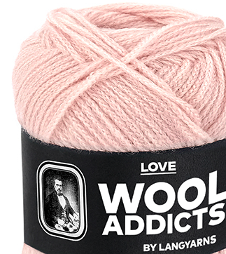 WOOLADDICTS, Love, Lang Yarns, soft touch 1002.
