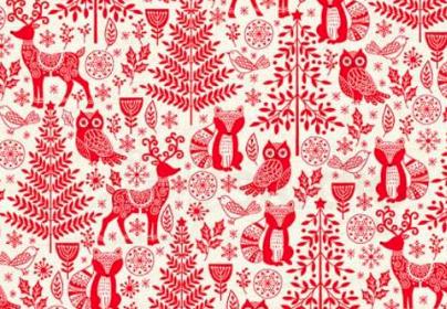 Patchworkstoff, Scandi Forest Animals, 2125, makower