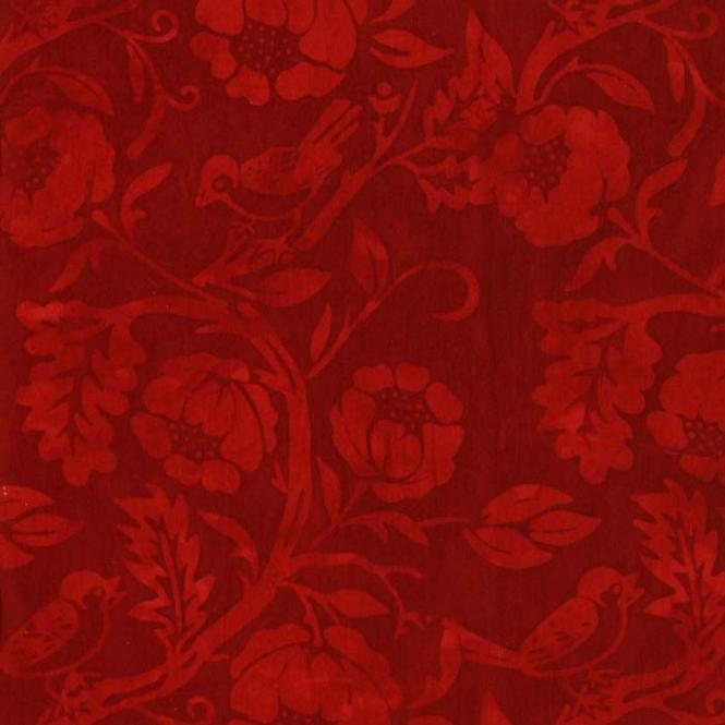 Island Batik, Batik, rot, floral