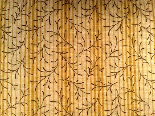 Braune Zweige auf beige gestreiftem Hintergrund, Makower uk