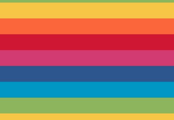 Jersey, Streifen, multicolor, Regenbogenfarben