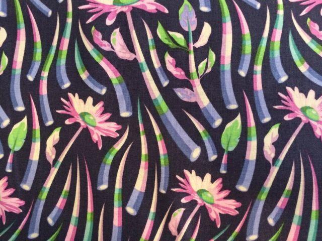 Patchworkstoff, Free Spirit, Blumen und Blätter in lila, blau, grün, rosa, Tula Pink, Acacia