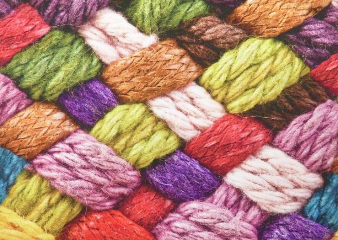 Wolle, Wollfäden, Wollmotiv, Deko Digital Druck