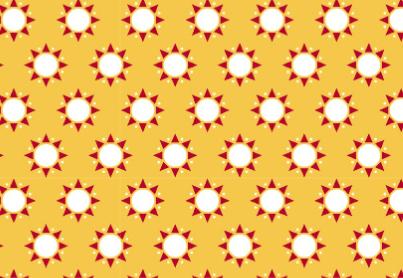 Westfalenstoff, Junge Linie, Winnipeg,Sonnen auf gelb,  0010508096