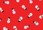Patchworkstoff, Jolly Santa Snowmen, Schneemänner, 1954, makower uk
