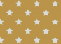 Jersey, weiß Sterne auf curryfarbenem Hintergrund