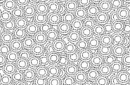 Patchworkstoff, Monochrome Circles, Schwarz, weiß, 1826/W,  Makower